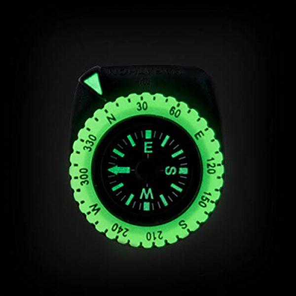 Marathon Survival Compass 10 Marathon Watch Clip-On Wrist Compass with Glow in The Dark Bezel. Northern Hemisphere Version - CO194005