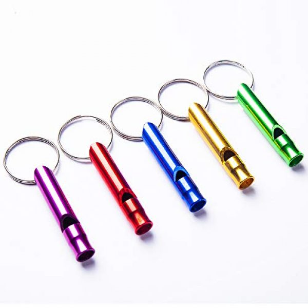 Tree Bud Survival Whistle 3 Tree Bud 5pcs Hiking Camping Survival Aluminum Whistle with Key Chain, Emergency Whistles