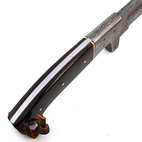 PAL 2000 KNIVES Fixed Blade Survival Knife 6 PAL 2000 KNIVES SGJB-9354 Full Tang Handmade Damascus Steel Blade Knife with Sheath