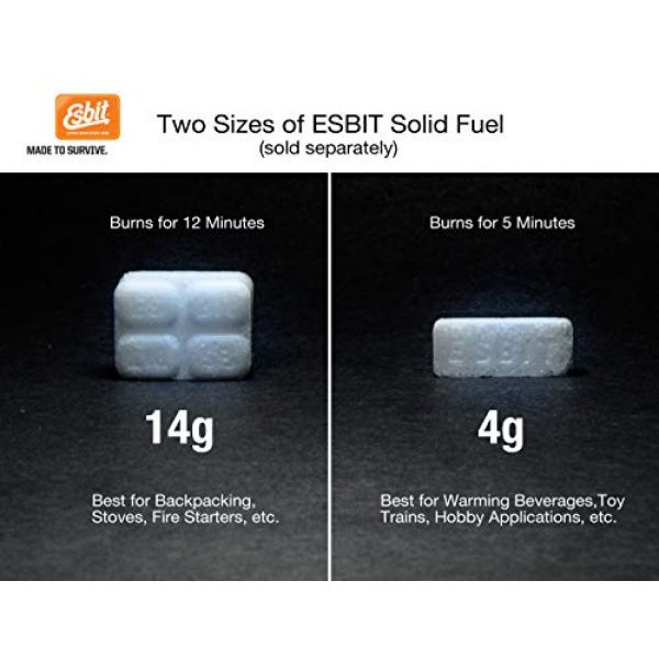 Esbit Survival Fire Starter 4 Esbit 1300-Degree Smokeless Solid Fuel Tablets for Hobby, Outdoor, and Emergency Use, 20 Pieces Each 4g