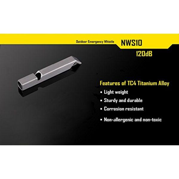 Nitecore Survival Whistle 5 Nitecore NWS10 TC4 Titanium Outdoor Emergency Whistle 120 Decibeles (NWS10 Emergency Whistle)