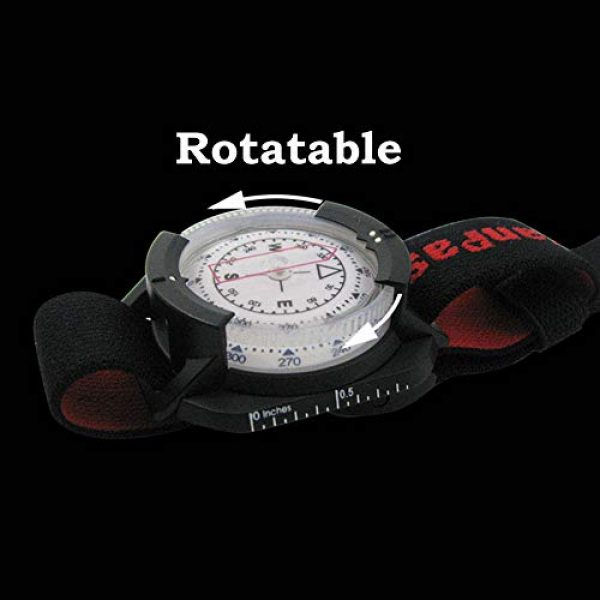 KanPas Survival Compass 4 Diving Sighting Wrist Compass for Outdoor Orienteering Mountaineering Hiking