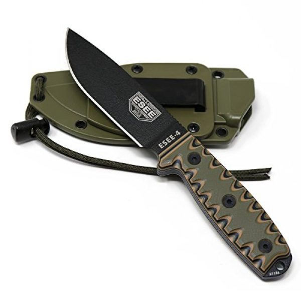 ESEE Fixed Blade Survival Knife 3 ESEE 4P Survival Fixed Blade Knife, OEM Sawtooth Handle Design