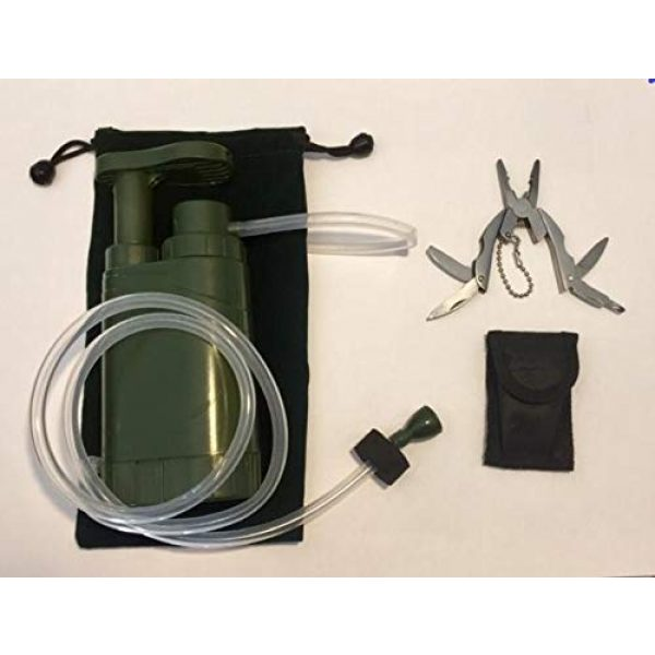 Barley Dean's Survival Water Filter 5 Barley Dean's Hiking Water Filter Pump. Camping Backpacking Travel Emergency Preparedness. Portable and Multi-Functional and Great for Your Survival Kit. Bonus Multi-Tool Included