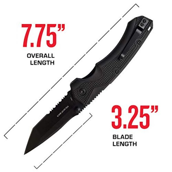 Tac Force Evolution Folding Survival Knife 4 Tac Force Evolution Spring Assisted Knife - TFE-A019T-BK