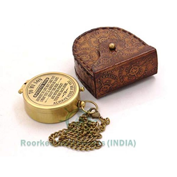 Roorkee Instruments India Survival Compass 3 RII You are Braver than You Believe,To My Son Compass,My Son,To My Son,Son from Dad,Gift for son,Father Son Gift,Mother Son Gift,Love Mom,Son from Mom, Love Dad