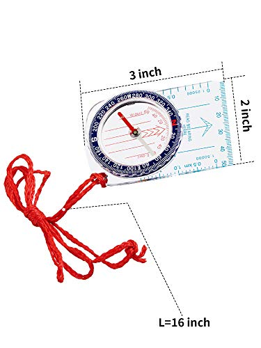 Gejoy  2 Gejoy Boy Scout Compass Orienteering Compass Map Compass for Hiking Fishing Camping Navigation