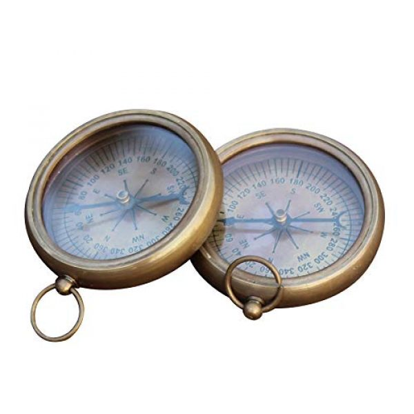 collectiblesBuy Survival Compass 4 collectiblesBuy Nautical Vintage Antique Finish Compass, 2.2 inches, Shiny Brass Finish Compass