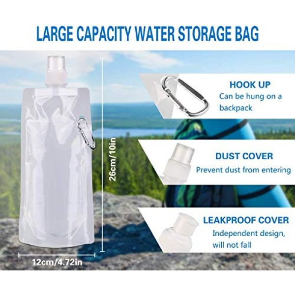 Lixada Survival Water Filter 3 Lixada Water Filter Straw with 5000L Filtration 0.01 Micron Purifier Survival Gear for Hiking, Camping, Travel, Emergency