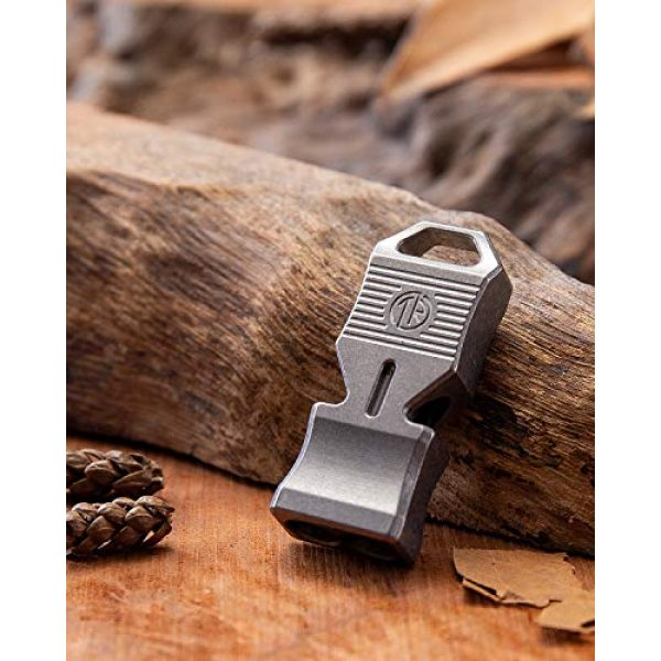 TACRAY Survival Whistle 4 TACRAY Titanium Emergency Whistle, Loud Portable Keychain Necklace Whistle for Emergency Survival, Life Saving, Hiking, Camping, and Pet Training (Double Hole Design)