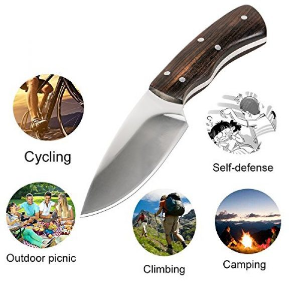KTFNOMES Fixed Blade Survival Knife 6 Outdoor Knife, pocket Survival tactical Hunting Knife - Horizontal-Vertical Belt Sheath with Wilderness Survival Outdoor Tactical Survival (5.52 inches Outdoor knife)