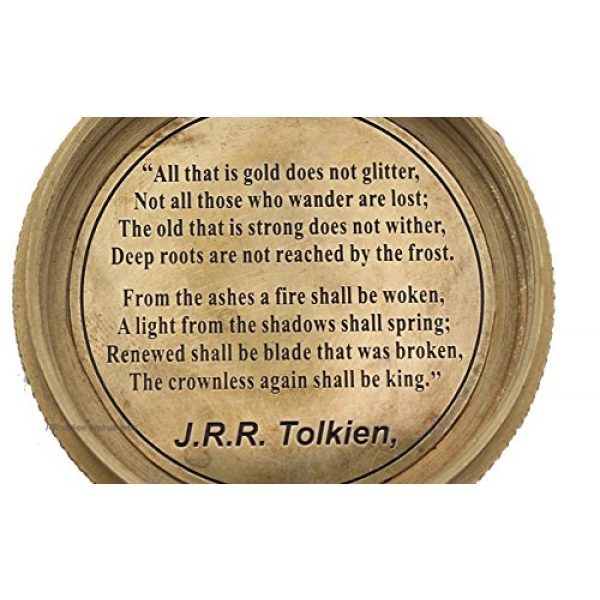 Roorkee Instruments India Survival Compass 3 Complete Quote of J.R.R Tolkien Not All Those. Compass with Case