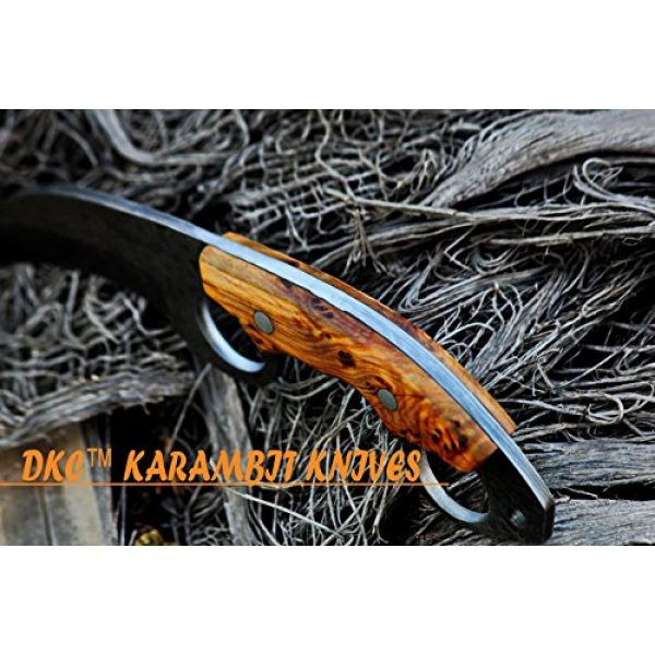 """DKC Knives Fixed Blade Survival Knife 6 DKC Knives (5 5/18) DKC-87-DS OWL Fox Damascus Steel Skinner Hunting Knife 8"""" Long 6.2oz High Class Looks Incredible Feels Great in Your Hand and Pocket Hand Made"""