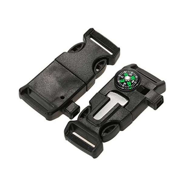 Lixada Survival Buckle 6 Lixada 10Pcs Emergency Whistle Buckle with Flint Scraper Fire Starter and Compass for Outdoor Camping Hiking Paracord Bracelet
