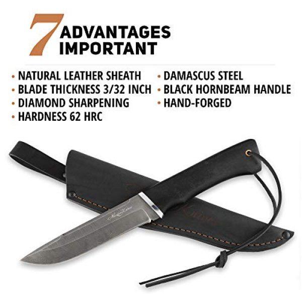 Nazarov Knives Fixed Blade Survival Knife 4 Fixed Blade Hunting Knife Vepr Damascus Steel