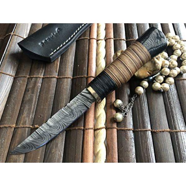 Perkin Fixed Blade Survival Knife 5 Perkin Handmade Knife Damascus Steel Hunting Knife with Sheath SK1900 Fix Blade Knife
