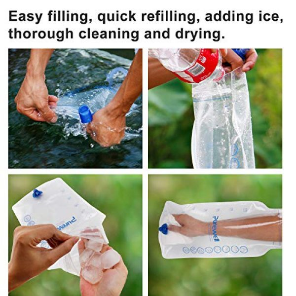 Purewell Survival Water Filter 4 Purewell Gravity High-Capacity Water Filtration System for Camping, Hiking and Emergency Preparedness