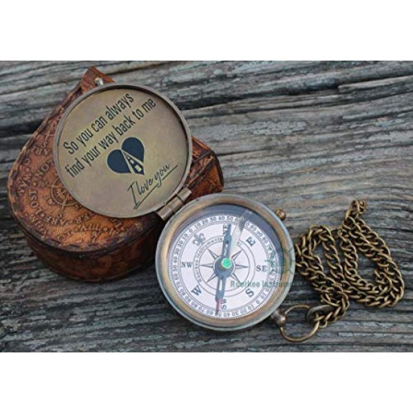 Roorkee Instruments India Survival Compass 2 ROORKEE INSTRUMENTS (INDIA) A NAUTICAL REPRODUCTION HOUSE Compass to My Man/to My Husband/to My Boyfriend/Back to me/My Best Man/Fathers Day/Mothers Day/Valentines Day/Christmas Day Gifts