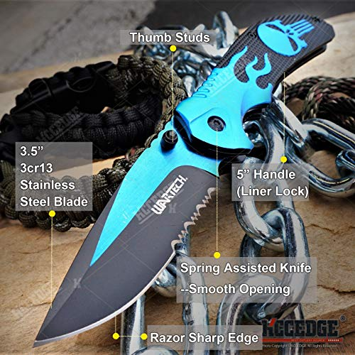 KCCEDGE BEST CUTLERY SOURCE  2 KCCEDGE BEST CUTLERY SOURCE EDC Pocket Knife Camping Accessories Razor Sharp Edge Flame Skull Folding Knife Camping Gear Survival Kit 58403