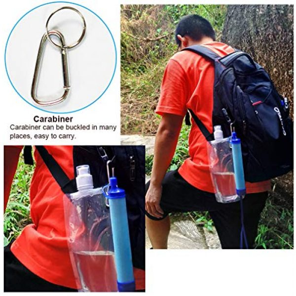 purely life Survival Water Filter 7 purely life Outdoor Water Purifier Survival Portable Purifier Wild Drink Ultrafiltration Personal Water Filter for Hiking, Camping, Travel, and Emergency Preparedness