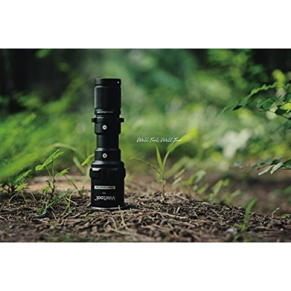 Weltool Survival Flashlight 7 Weltool T7 AA Compact Tactical Flashlight Long Throw IP67 Waterproof 659ft Powered by 14500 AA Battery Impact-Resistant for Hunting Remington 870, Mossberg 500 Neutral White/Cool White