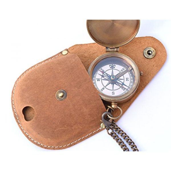 NEOVIVID Survival Compass 7 NEOVIVID Brass Pocket Compass, Engravable Compass, Camping Compass, Hiking Compass, Wedding Gifts