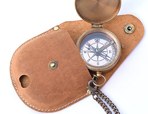 NEOVIVID Survival Compass 7 NEOVIVID Brass Pocket Compass, Engravable Compass, Camping Compass, Hiking Compass, Wedding Gifts