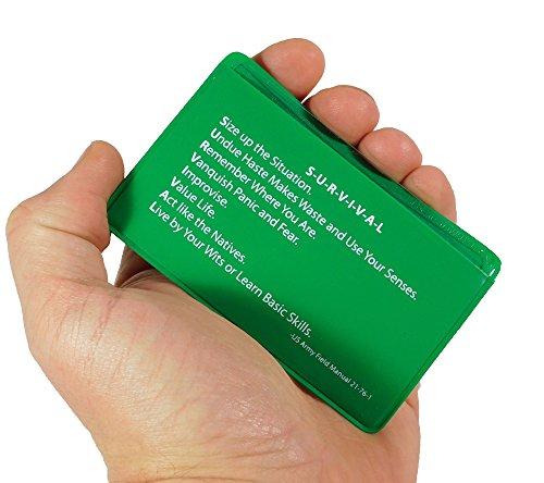 5col Survival Supply  5 5col Survival Supply Fresnel Lens 4-Pack Credit Card Size Pocket Magnifier & Firestarter
