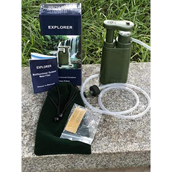 Barley Dean's Survival Water Filter 4 Barley Dean's Hiking Water Filter Pump. Camping Backpacking Travel Emergency Preparedness. Portable and Multi-Functional and Great for Your Survival Kit. Bonus Multi-Tool Included