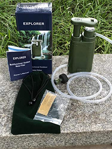 Barley Dean's  4 Barley Dean's Hiking Water Filter Pump. Camping Backpacking Travel Emergency Preparedness. Portable and Multi-Functional and Great for Your Survival Kit. Bonus Multi-Tool Included