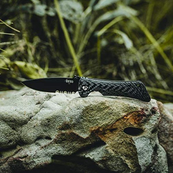 Southern Grind Folding Survival Knife 5 Southern Grind Spider Monkey Drop Point Folding Knife with Carbon Fiber Handle