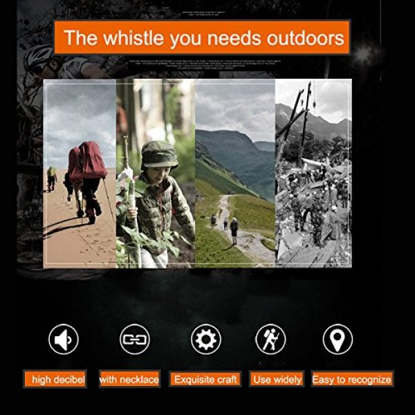 NUBARKO Survival Whistle 3 NUBARKO Emergency Survival Whistle, Titanium Outdoor Loud Coach Whistle, Keychain Whistle for Camping, Hiking, Hunting and Pet Training