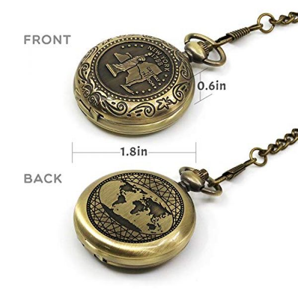MIASTAR Survival Compass 5 Classic Collection Antiqued Finish Compass with Chain | Premium Pocket Compass | Survival Gear Compass for Kids Hiking, Camping, Motoring, Backpacking, Outdoor Activities (Copper)