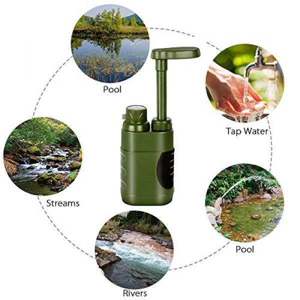 Lixada Survival Water Filter 4 Lixada Straw Water Filter Survival Filtration Portable Emergency Water Purifier for Family Hiking Camping Travel Outing Water Supply Preparedness