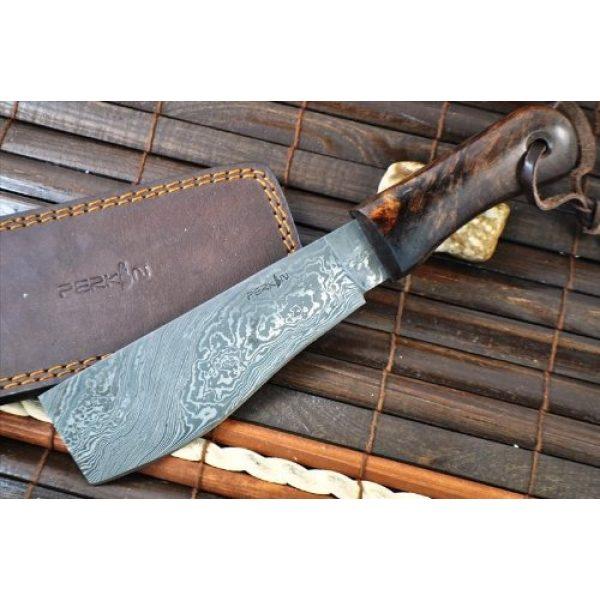 Perkin Fixed Blade Survival Knife 4 Perkin Knives - Damascus Steel Knife - Hunting Knife - Machete