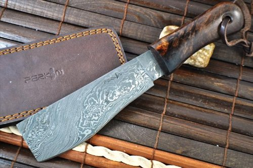 Perkin Knives  4 Perkin Knives - Damascus Steel Knife - Hunting Knife - Machete
