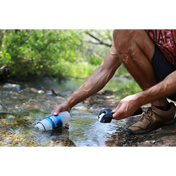 Seychelle Survival Water Filter 5 Seychelle Extreme Water Filter Bottle - Camping, Travel, Hiking, Backpacking, Survival and Emergency - Removes Bacteria, Viruses, Radiological Contaminants - 28 oz