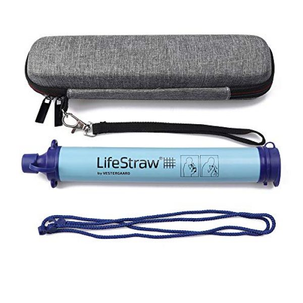 Joyhub Survival Water Filter 2 Joyhub Carry Travel Case for LifeStraw and LifeStraw Steel Personal Water Filte Sewage Purification Storage Zipper Protective Bags