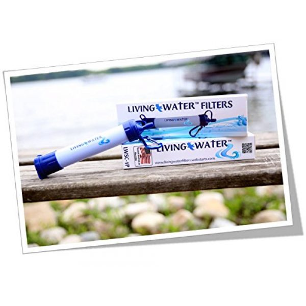 Living Water Survival Water Filter 7 Living Water Advanced Filter for Hiking, Camping, Travel, and Emergency Preparedness