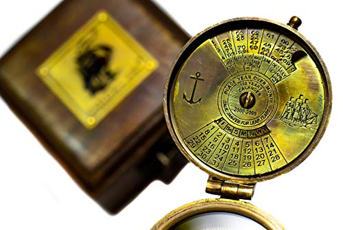 Sailor's Art Survival Compass 2 Sailor's Art Antique Handcrafted Brass Compass-Camping Travelling Equipment-Perfect Sailor Gifts-Direction Pocket Compass-Vintage Home D©cor Item-Gifts for Friends Family Children