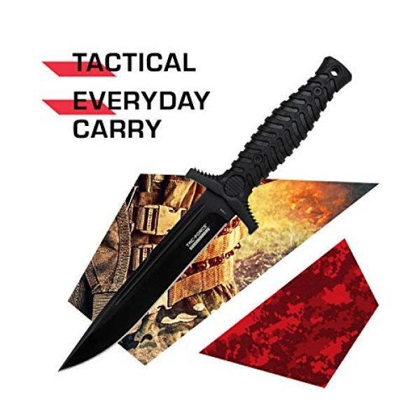 Tac Force Evolution Fixed Blade Survival Knife 2 Tac Force Evolution Fixed Blade Knife - TFE-FIX014-BK
