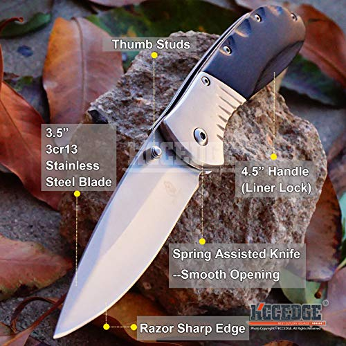 KCCEDGE BEST CUTLERY SOURCE  2 KCCEDGE BEST CUTLERY SOURCE EDC Pocket Knife Camping Accessories Razor Sharp Edge Folding Knife Camping Gear Survival Kit 57819