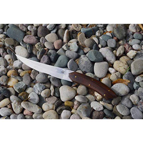 Hobby Hut Fixed Blade Survival Knife 2 Hobby Hut HH-305   Custom Handmade 420 Stainless Steel Fixed Blade Survival Hunting Knife with Sheath Micarta Handle Designed for Hunting & Camping