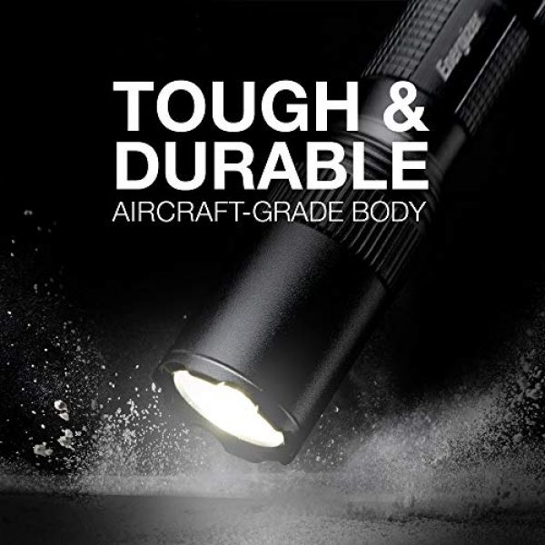 Energizer Survival Flashlight 4 ENERGIZER LED Tactical Flashlight, IPX4 Water Resistant, Super Bright, Heavy Duty Metal Body, Built For Camping, Outdoors, Emergency, Batteries Included