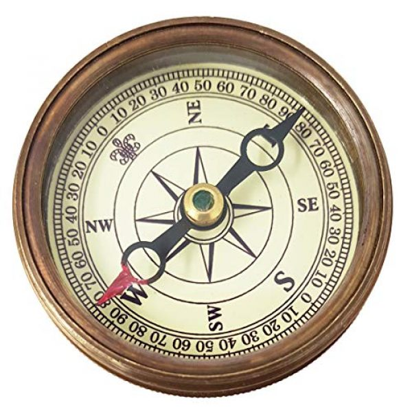 """Brass Nautical Survival Compass 6 Brass Nautical - """"Not All Those Who Wander Are Lost"""" Magnetic Compass Graduation Confirmation Day Gift compass Marine Antique Replica Vintage Magnetic Direction Antique Compass"""