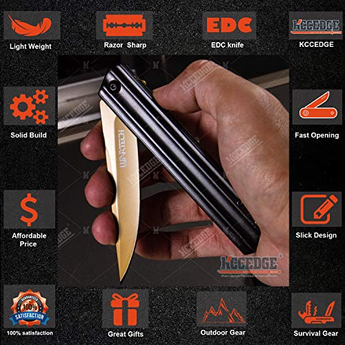 KCCEDGE BEST CUTLERY SOURCE  3 KCCEDGE BEST CUTLERY SOURCE Pocket Knife Camping Accessories Camping Gear Survival Kit Razor Sharp Tactical Knife 76360