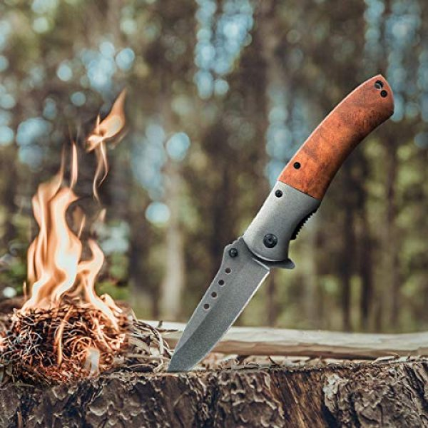 Deceny CB Folding Survival Knife 6 Deceny CB Folding Knife Pocket Knife Outdoor Survival Knife Rescue Knife Tactical Folding Knife with Sheath for Camping Hunting Survival and Outdoor