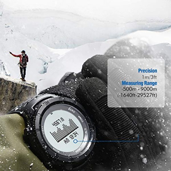 EZON Survival Compass 12 EZON Men's Digital Sports Watch for Outdoor Hiking with Compass Altimeter Barometer Thermometer Waterproof Military Watch Wristwatch H001H11