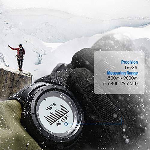 EZON  5 EZON Men's Digital Sports Watch for Outdoor Hiking with Compass Altimeter Barometer Thermometer Waterproof Military Watch Wristwatch H001H11