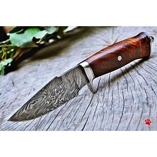 Bobcat Knives Fixed Blade Survival Knife 4 Bobcat Knives Custom Handmade Hunting EDC Knife Damascus Steel 10'' Overall with Sheath